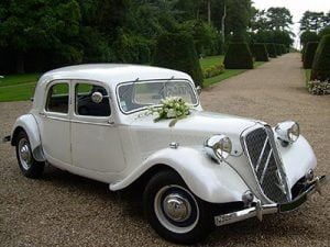 Citroen Traction 15 Six Blanche Mariage
