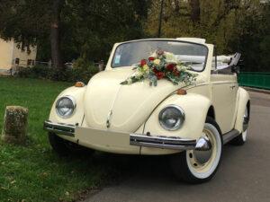 Coccinelle Cabriolet Blanche - Location Voiture Mariage