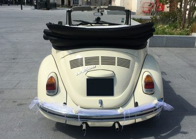 Coccinelle Cabriolet Blanche - Location Voiture Mariage